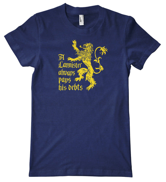 A Lannister Always Pays His Debts American Apparel Tri-Blend T-Shirt
