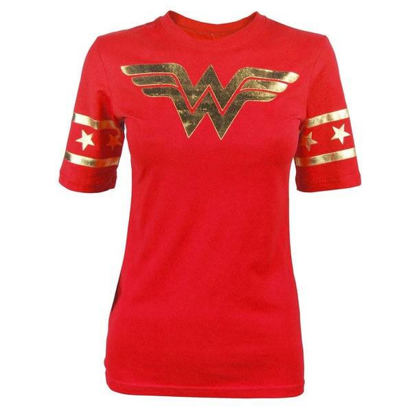 Wonder Woman Gold Foil Juniors Shirt