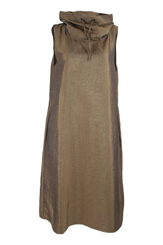 Bronze Funnel Neck Dress