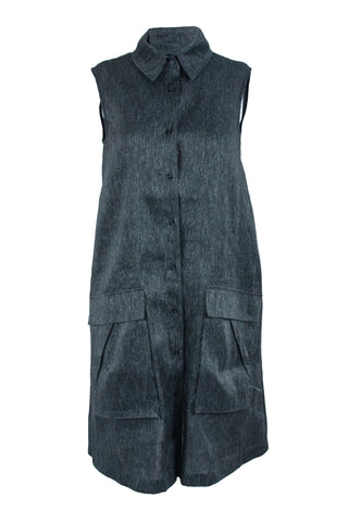 Black Linen Silk Dress