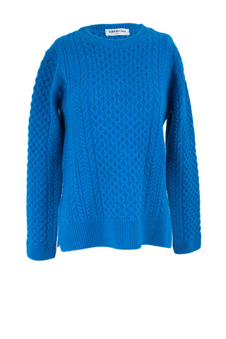 Blue Pullover Knit Jumper