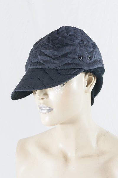 Black Quilt Knit Cap