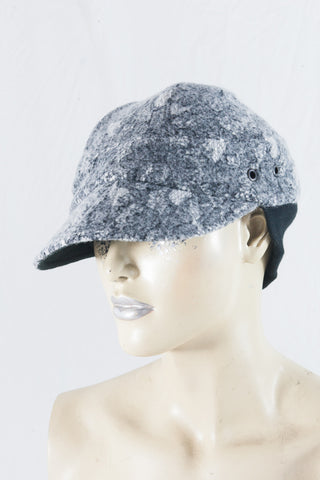 Lace/Grey Felt Wool Cap