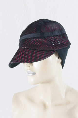 Black Pink Mesh Knit Cap