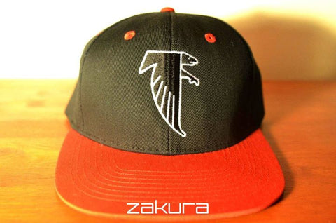 Atlanta Falcons, LOGO, Black/Red, NFL, Snapback