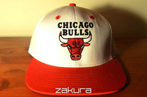 Chicago Bulls, LOGO, White/Red, NBA, Snapback