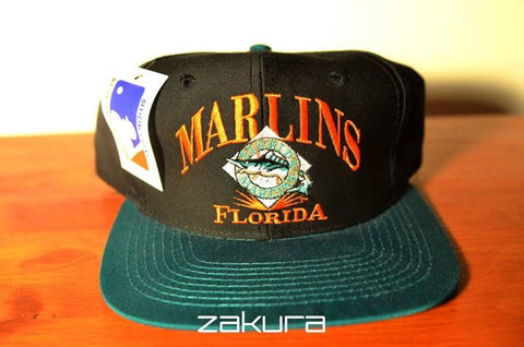 Florida Marlins, VINTAGE LOGO, Black/Green, MLB, Snapback