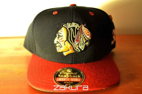 Chicago BlackHawks, LOGO, Black/Red, NHL, Snapback