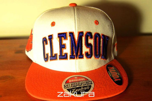 Tiger Clemson, BLOCK, White/Orange
