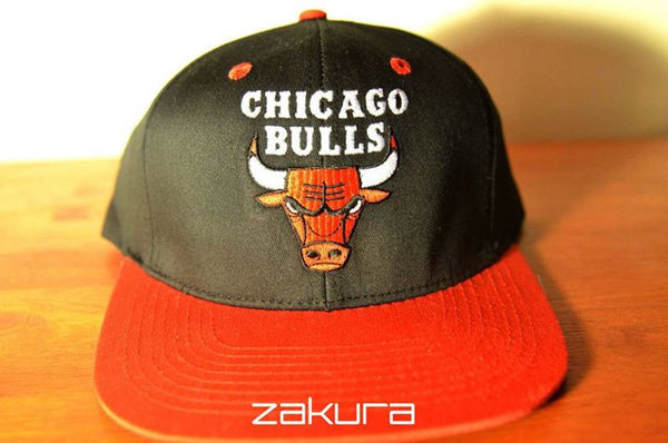 Chicago Bulls, LOGO, Black/Red, NBA, Snapback