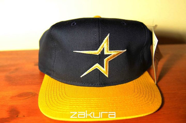 Houston Astros, VINTAGE LOGO, Navy/Yellow, MLB, Snapback