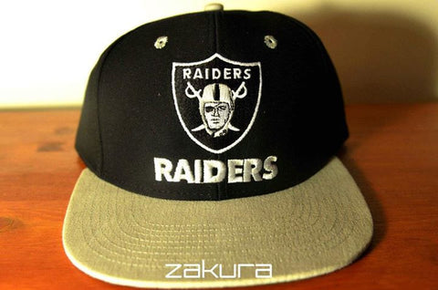 L.A Raiders, LOGO, Black/Grey, NFL, Snapback