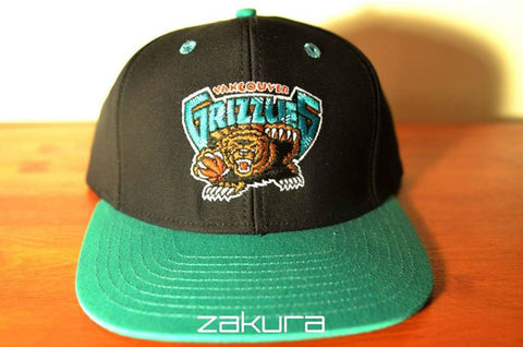 Vancouver Grizzles, LOGO, Black/Green, NBA, Snapback