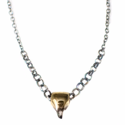 Tooth Silver Necklace