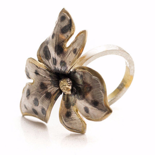 Tiger Orchid Flower Ring