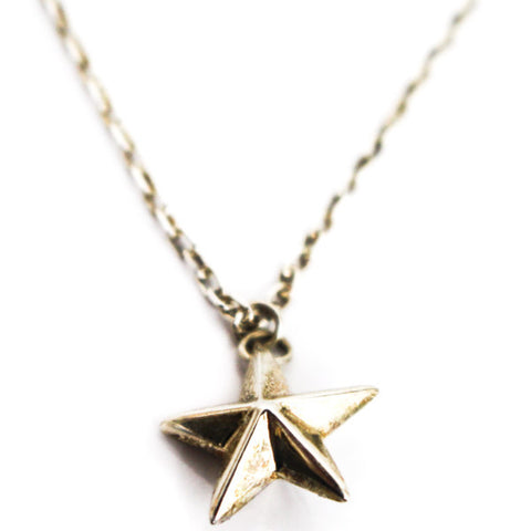 Silver Star Pendant on Silver Chain