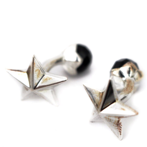 Silver Star Plated Cufflinks