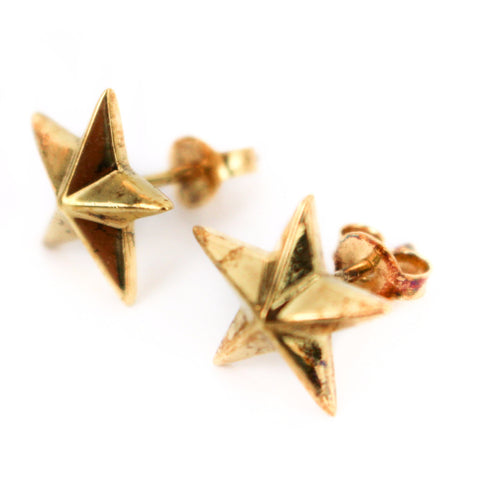 Gold Small Star Earrings