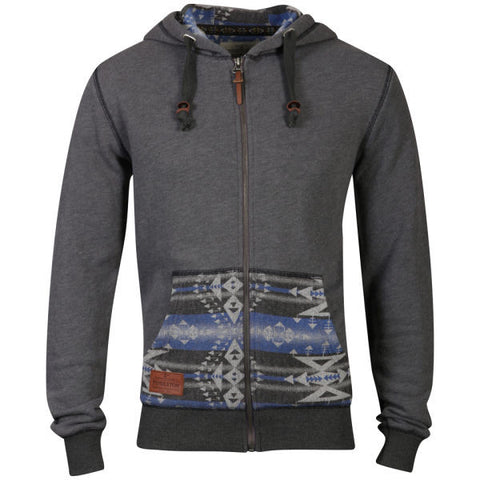 Grey Big Thunder Zip Through Hoody