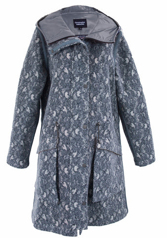 Lace/Grey Felt Wool Pop Parka