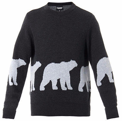Black/Grey Walking Polar Bear Knit