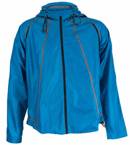 Turquoise Lightweight Hooded Jacket