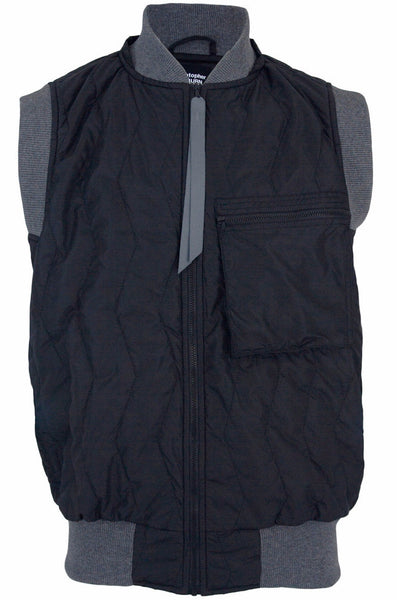 Black Quilted Gilet