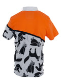 Printed Animal Orange Front Pocket Polo