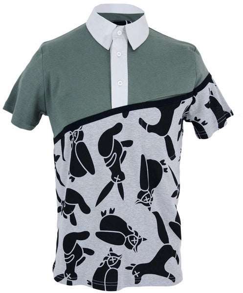 Printed Animal Olive Front Pocket Polo
