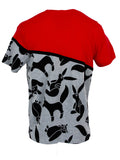 Printed Animal Red Front Pocket T-Shirt