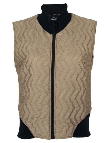 Taupe Quilted Gilet