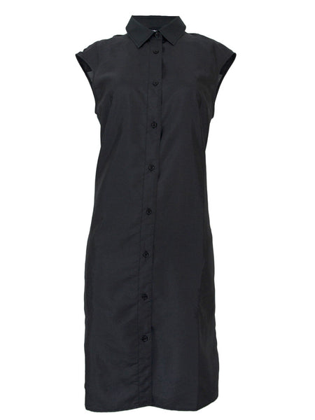 Womens Lightweight Sleeveless Shirt Dress