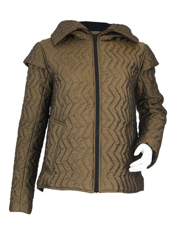 Bronze Quilted Cap Jacket