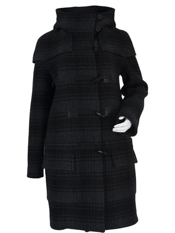 Check/Black Duffle Coat