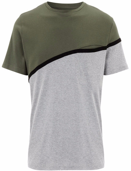 Olive Front Pocket T-Shirt