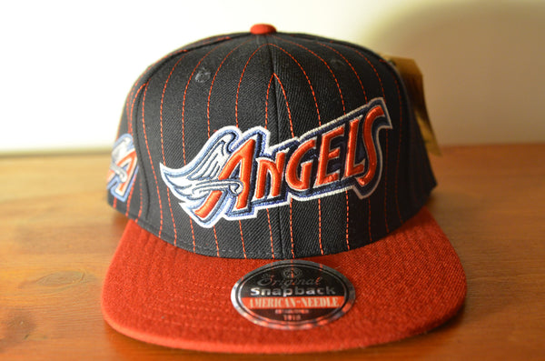 California Angels, PIN, Black/Red, MLB, Snapback