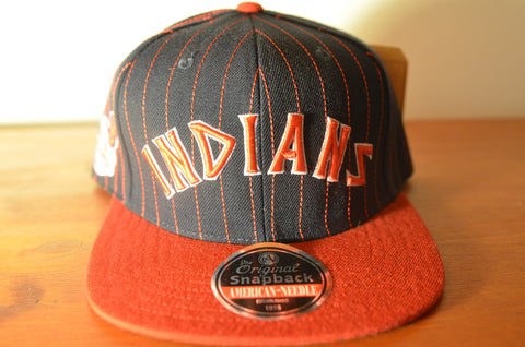 Cleveland Indians, PIN, Black/Red, MLB, Snapback