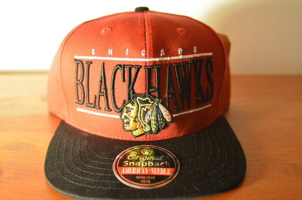 Chicago BlackHawks, NINETIES, Red/Black, NHL, Snapback