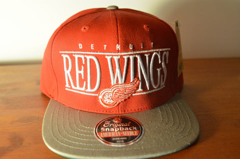 Detroit Red Wings, NINETIES, Red/Grey, NHL, Snapback
