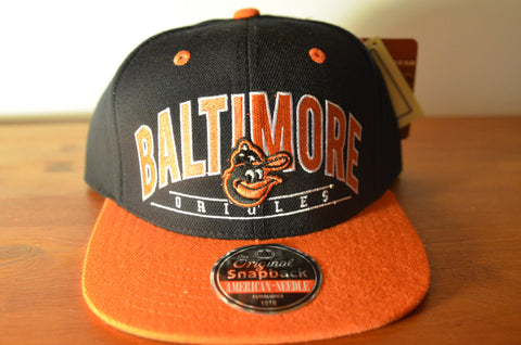 Baltimore Orioles, NINETIES, Black/Orange, MLB, Snapback