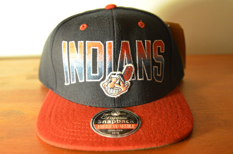 Cleveland Indians, HAYES, Black/Red, MLB, Snapback