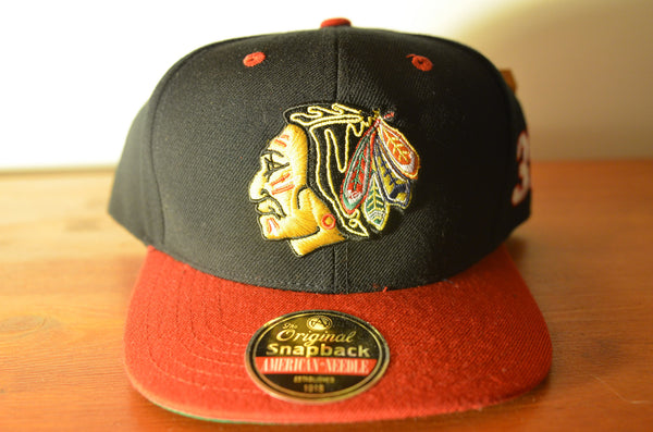 Chicago BlackHawks, BLOCKHEAD35, Black/Red, NHL, Snapback