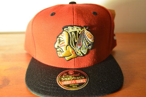 Chicago BlackHawks, BLOCKHEAD9, Red/Black, NHL, Snapback