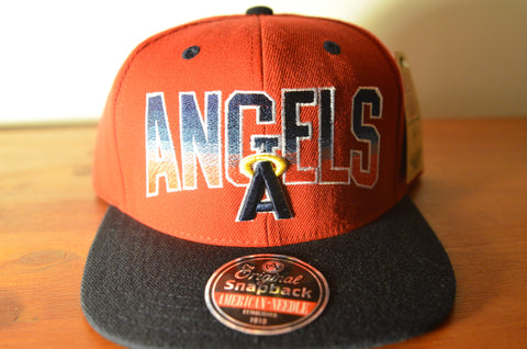 California Angels, HAYES, Red/Black, MLB, Snapback