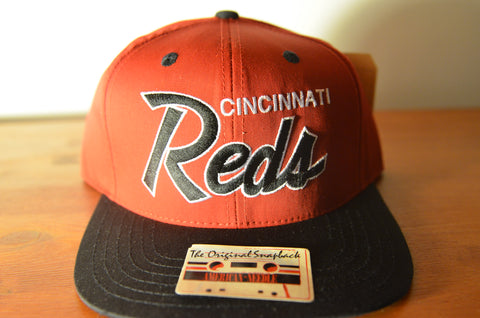 Cincinnati Reds, SCRIPT, Red/Black, MLB, Snapback