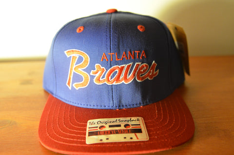 Atlanta Braves, SCRIPT, Blue/Red, MLB, Snapback