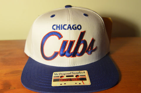Chicago Cubs, SCRIPT, White/Blue, MLB, Snapback