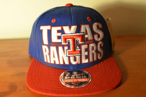 Texas Rangers, BLOCK, Blue/Red, MLB, Snapback