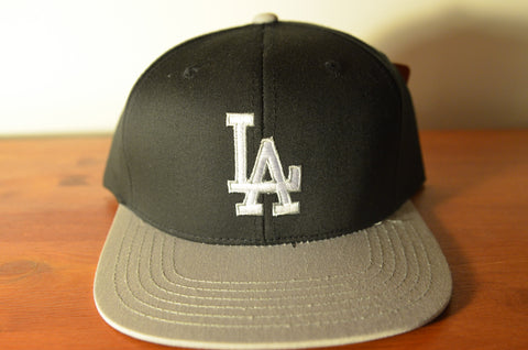 L.A Raiders, LOGO, Black/Grey, MLB, Snapback