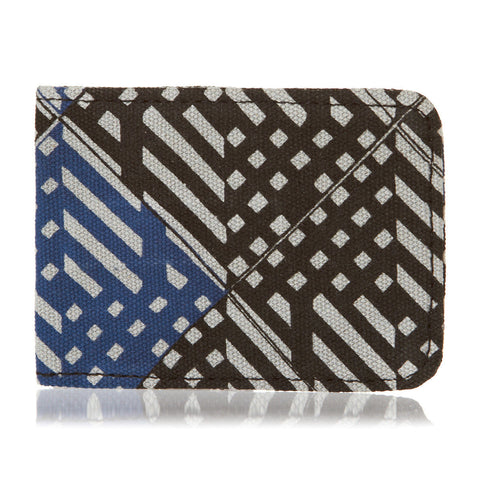 Geometric Blue Print Oyster Card Wallet